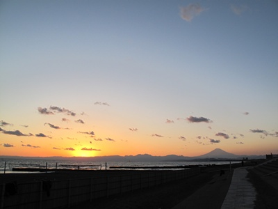 サンセット&富士山