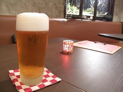茶々丸  ビールで乾杯
