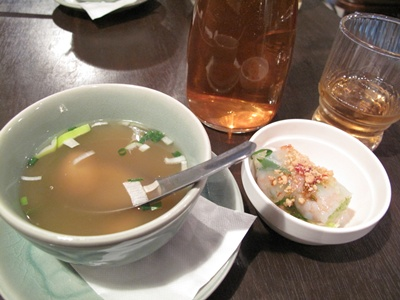クルン・サイアム 中目黒店 スープと生春巻き