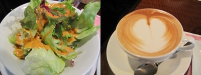 Cafe Restaurant Zagara(カフェレストラン・ザガラ ) サラダとカプチーノ