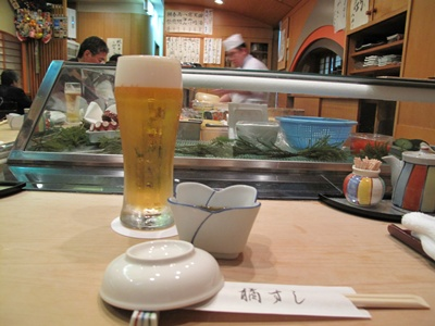 橘すし ビール