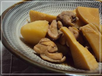 筍 鶏 煮物 2