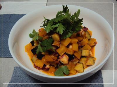 タコと野菜のトマト煮 2