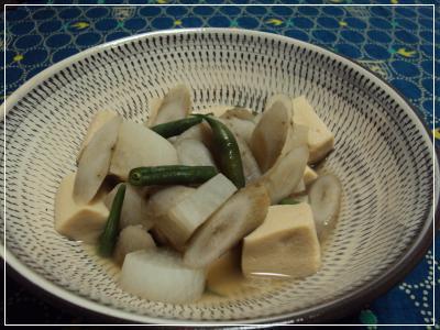 根菜・高野豆腐 薄煮