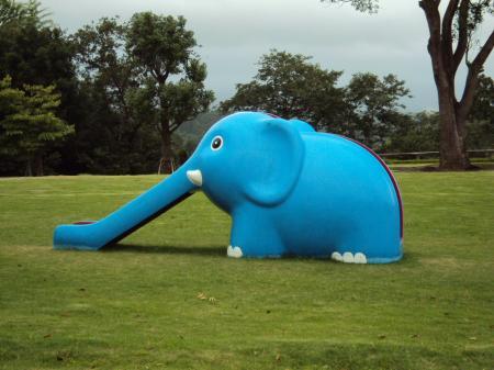 青いゾウさん