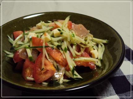 野菜と生ハムのサラダ