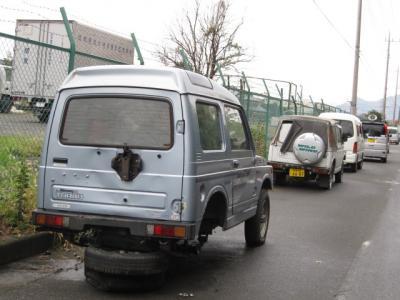 タイヤも無い。これは車だろうか?