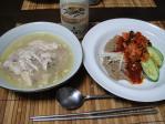 サンゲタンと冷麺の夕食@日本の食卓