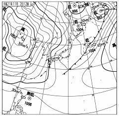 2009年11月2日 12時00分 天気図