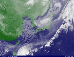 2009年11月2日 13時00分  気象衛星