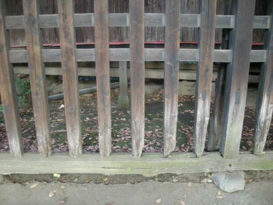 歯槽膿漏の神社の柵b