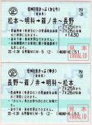 信州往復きっぷ MEM