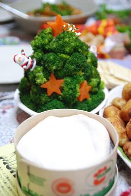 クリスマスツリーとチーズ