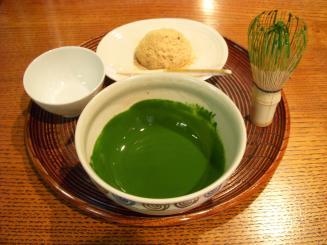 一保堂茶舗 喫茶室嘉木(京都限定 北野の昔 濃茶セット(after))