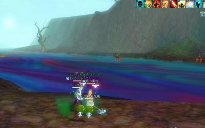 これが七色の川かー