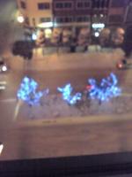 窓から見えるイルミネーション