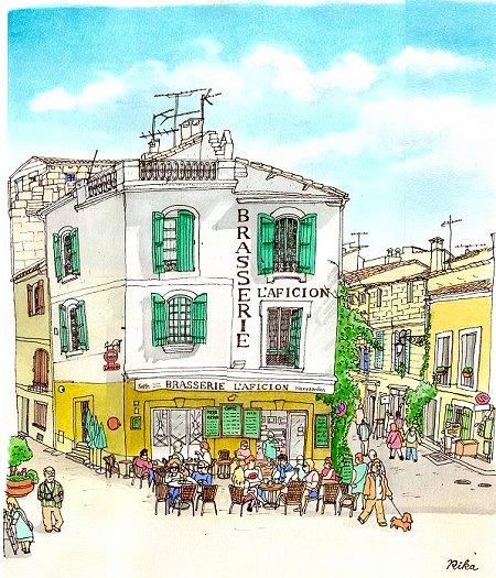 闘技場前のカフェ(アルル)
