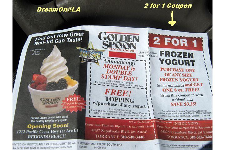 Spoons yogurt coupons