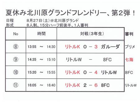 2011.8.27(3年)北川原G-TM結果