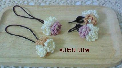 ヘアアクセサリー編み花 1