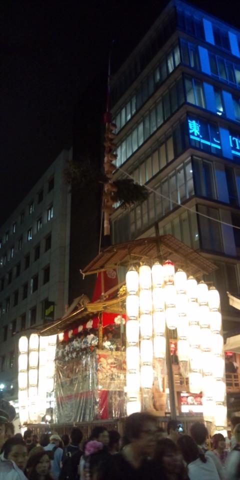 長刀鉾の夜