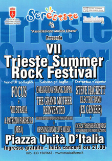 trieste summer rock festival 2010 poster