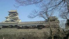 九州の真ん中のお城の外側