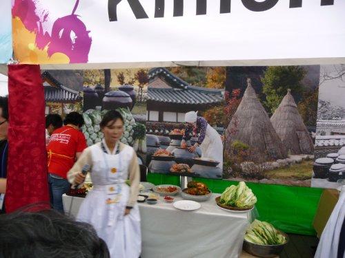 キムチ作り体験コーナー
