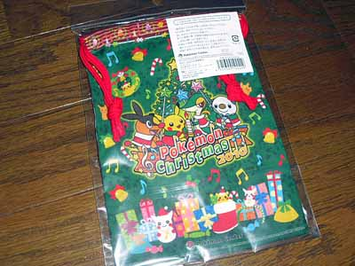 ポケセン クリスマス 巾着