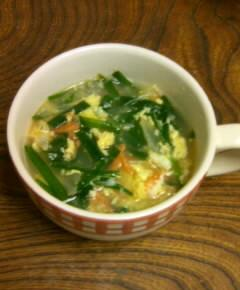 ニラと卵のスープ11