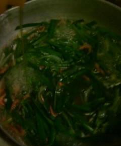 ニラと卵のスープ8