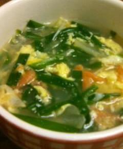 ニラと卵のスープ12