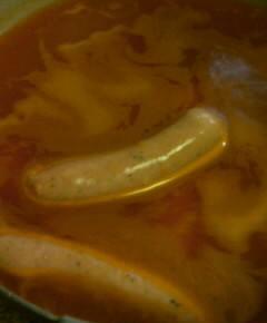イタリア風ソーセージスパ鍋4