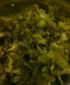 うなぎと高菜と卵の混ぜご飯3