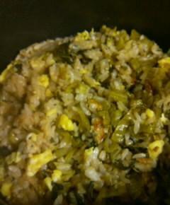 うなぎと高菜と卵の混ぜご飯14