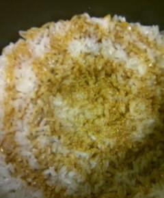 うなぎと高菜と卵の混ぜご飯10