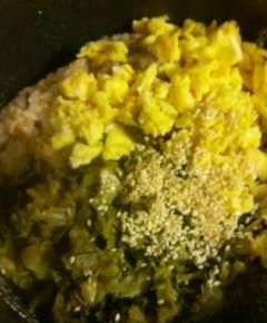 うなぎと高菜と卵の混ぜご飯13