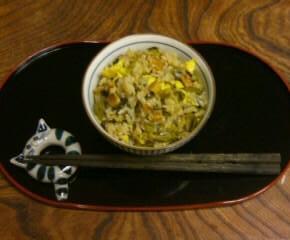 うなぎと高菜と卵の混ぜご飯15