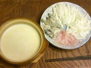 ホワイトソース仕立ての鍋13