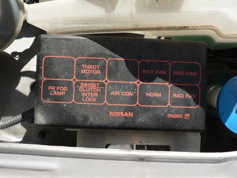 エンジンルーム内のリレーボックス