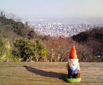 神戸を見下ろす