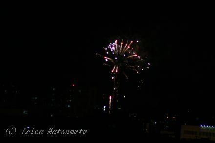 2010年 最初の花火