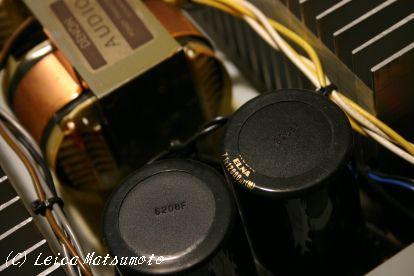 UHC-MOSの要 トランスとコンデンサー