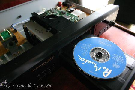 CDがセットされた状態