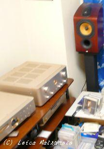 B&W705とマランツのアンプとSACDプレーヤーの組み合わせ