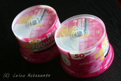 100枚のCD-R