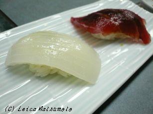 烏賊と鮪のお寿司