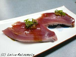鰹の寿司 生姜仕立て