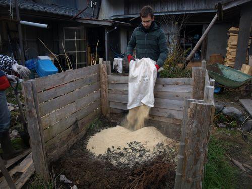 12米ぬかを蒔く