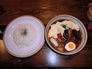 札幌南区スープカレー 藤乃屋 ポーク角煮1